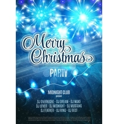 Merry Christmas Party Flyer Abstract Winter vector image