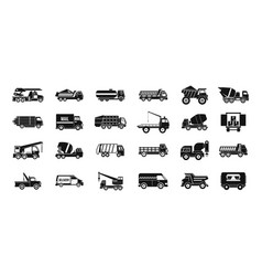 truck icon set simple style vector image