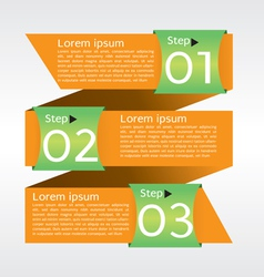 Abstract banner in three step EPS10 vector image