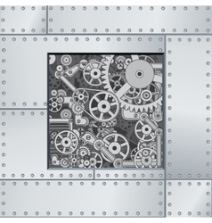 Abstract Mechanism Backdrop vector image