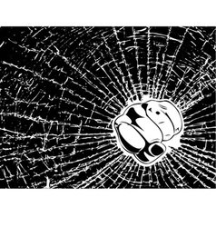 broken glass fist vector image