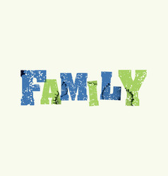 Family concept stamped word art vector