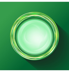 Green glasses button vector image vector image