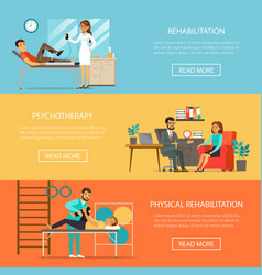 Medical therapy horizontal banners vector