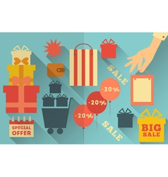 Sale Icons Collection vector image vector image