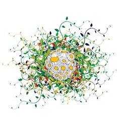 spring floral sphere vector image vector image
