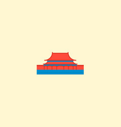 tienanmen square icon flat element vector image