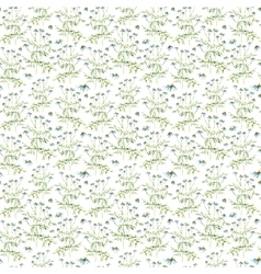 Watercolor chamomile herbs seamless pattern vector image vector image