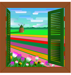 window to holland vector image vector image