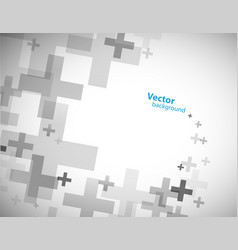 abstract background created with plus sign vector image