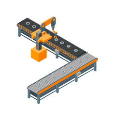 automated factory 3d isometric view on a white vector image