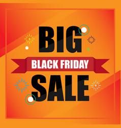 banner big sale black friday image vector image