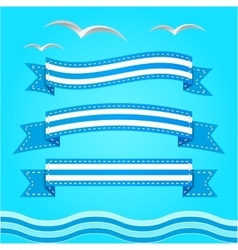 banner set Ribbons collection vector image