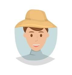 Beekeeper cartoon vector image