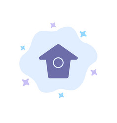 Birdhouse tweet twitter blue icon on abstract vector