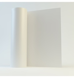 Blank page template for design layout 3d vector image