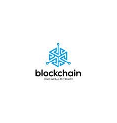 Blockchain logo design vector