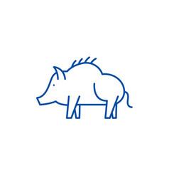 boar line icon concept boar flat symbol vector image