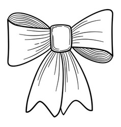 bow icon hand drawn style vector image