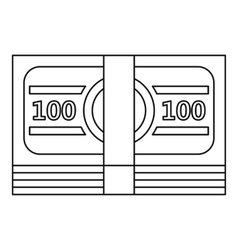 Bundle of money icon outline style vector