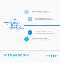 business eye marketing vision plan infographics vector image