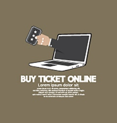 Buy Ticket Online Concept vector