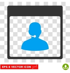 Call Center Manager Calendar Page Eps Icon vector image