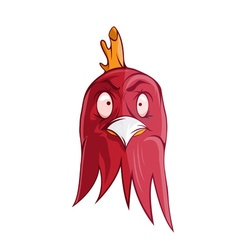 Cartoon of angry rooster vector