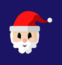cartoon santa claus cute face vector image