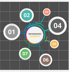 circle infographic elements with seven options vec vector image