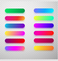 Colorful isolated rounded icon templates vector