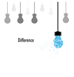 creative light bulbs logo design template and vector image