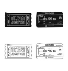 Design of ticket and admission sign vector