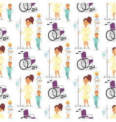 doctor nurse character medical woman staff vector image