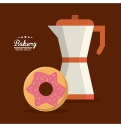 Donut bakery food icon graphic vector