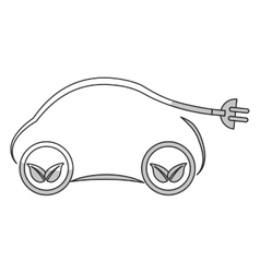 Electric car design vector