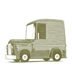 Engraved Cartoon Car vector image