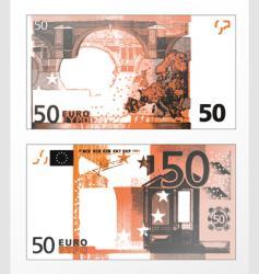 Euros 50 banknote vector image