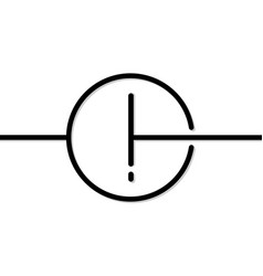 Exclamation point in line art style vector