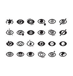 eyes symbols closed opening eye human parts vector image