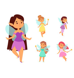 Fairies princess fairy girl character cute vector