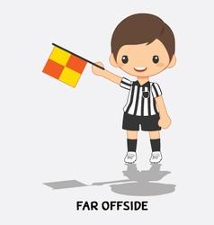 far offside flag signals vector image