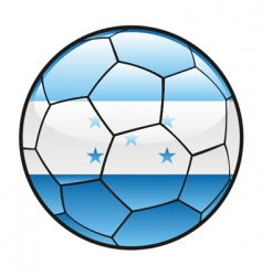 Flag of Honduras on soccer ball vector