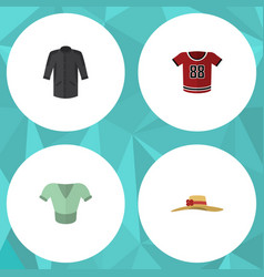 flat icon clothes set of elegant headgear casual vector image
