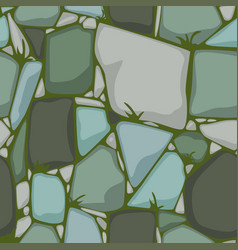 Flat seamless stone texture colored stones vector