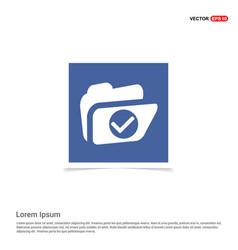 folder icon - blue photo frame vector image