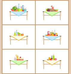 food and drinks still life composition for photo vector image