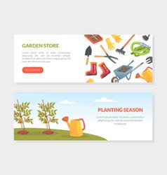 garden store planting season landing page vector image