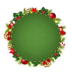 Green Speech Bubble With Christmas Icon vector image vector image