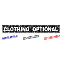Grunge clothing optional scratched rectangle vector